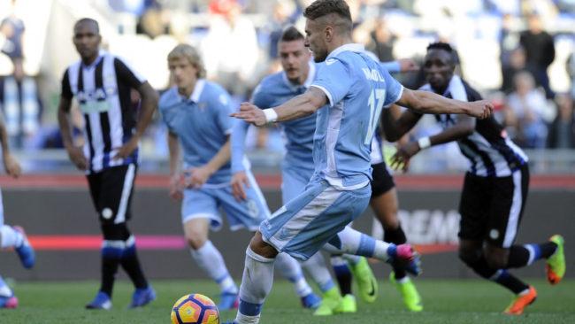 Immobile faz de pênalti, e Lazio vence Udinese