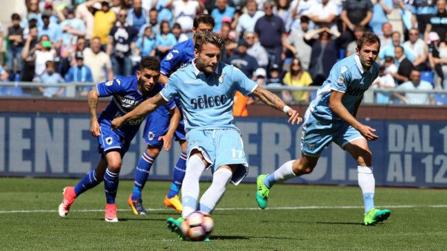 Lazio faz 7 na Sampdoria e se garante na Liga Europa