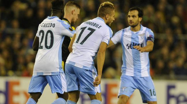 Titulares entram no segundo tempo, e Lazio vira para cima do Vitesse pela Europa League