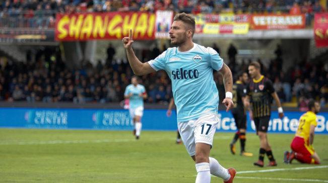 Com um gol e três assistências de Immobile, Lazio atropela Benevento