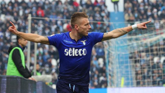 Com 4 gols de Immobile, Lazio goleia Spal fora de casa